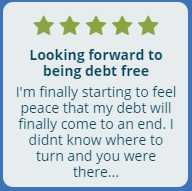 Looking forward to being debt free